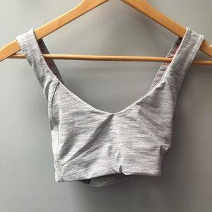 lululemon athletica Intimates & Sleepwear - Lululemon sz 4 grey striped crisscross sports bra